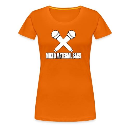 MIXED MATERIAL BARS - Frauen Premium T-Shirt