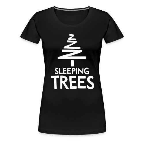 SleepingTrees White png - Women's Premium T-Shirt
