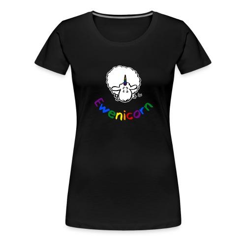 Ewenicorn (schwarze Ausgabe Regenbogentext) - Frauen Premium T-Shirt