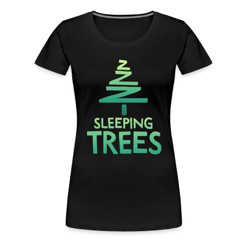 SleepingTrees Colour DarkBackground png - Women's Premium T-Shirt
