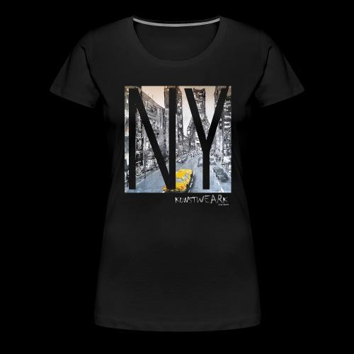 TIME SQUARE - Frauen Premium T-Shirt