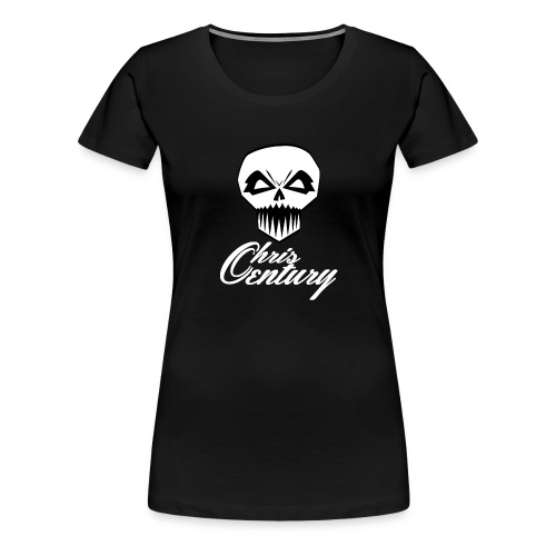 logo Chris Century blanc - T-shirt Premium Femme