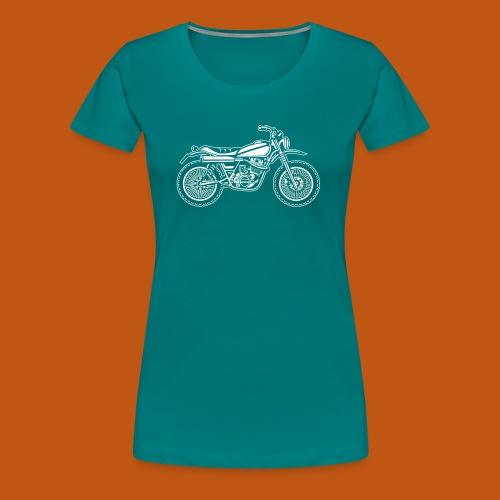 Motocross Enduro Motorrad 01_weiß - Frauen Premium T-Shirt