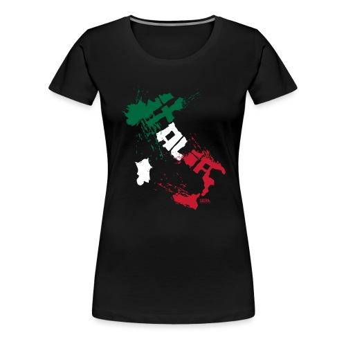 Italia Blanc.png - T-shirt Premium Femme
