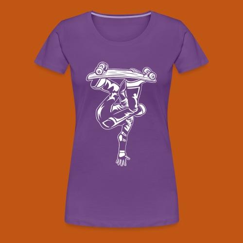 Skater / Skateboarder 03_weiß - Frauen Premium T-Shirt