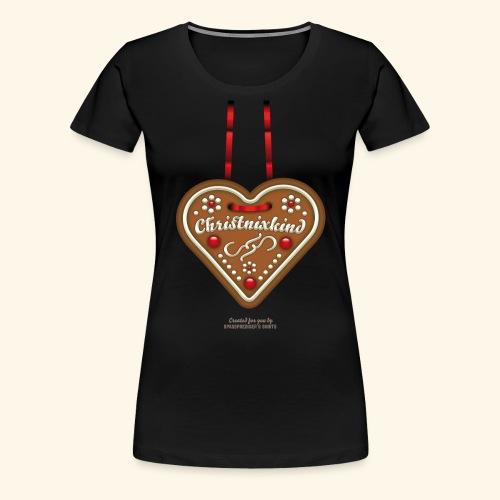Ugly Christmas Lebkuchenherz Weihnachten - Frauen Premium T-Shirt