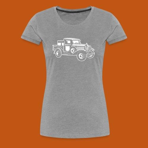 Pickup Oldtimer Truck 01_weiß - Frauen Premium T-Shirt
