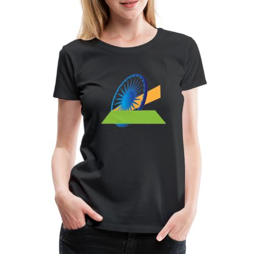 Indian Flag Graphics - Women's Premium T-Shirt
