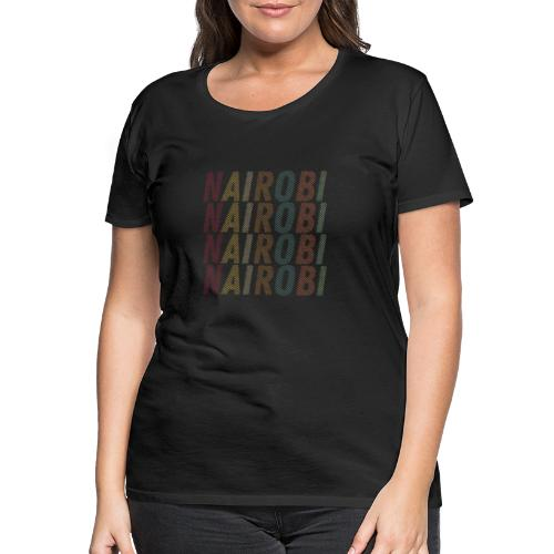 00286 Nairobi vintage multi - Camiseta premium mujer