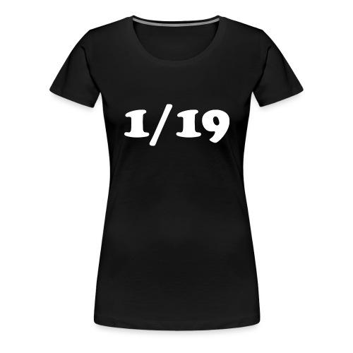 1/19 - Naisten premium t-paita