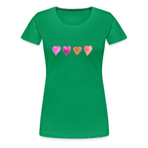 Herzen - Frauen Premium T-Shirt
