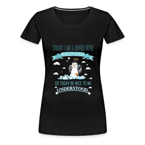 Pinguin Engel Weihnachten Antarktis Shirt Geschenk - Frauen Premium T-Shirt
