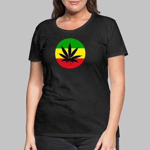 Reggae Rasta Cannabis Blatt grü gelbrot - Frauen Premium T-Shirt