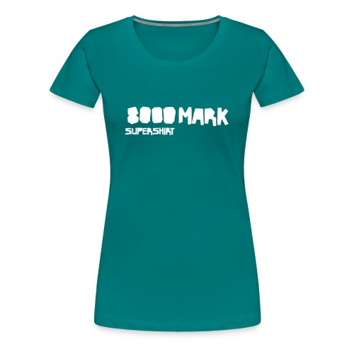 supershirt schriftzug vektor - Frauen Premium T-Shirt