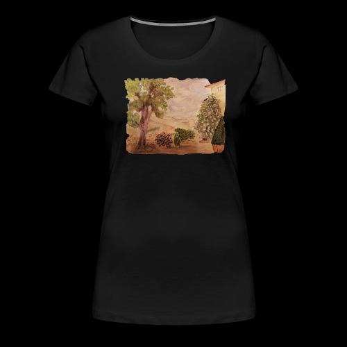 Hinterhof - Frauen Premium T-Shirt