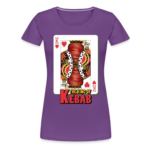 The King Of Kebab (Cotto & Frullato) T-Shirt Uomo - Maglietta Premium da donna