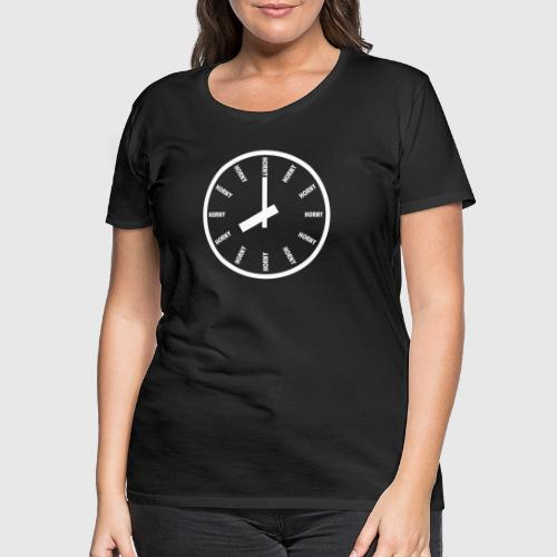 HORNY white png - Dame premium T-shirt