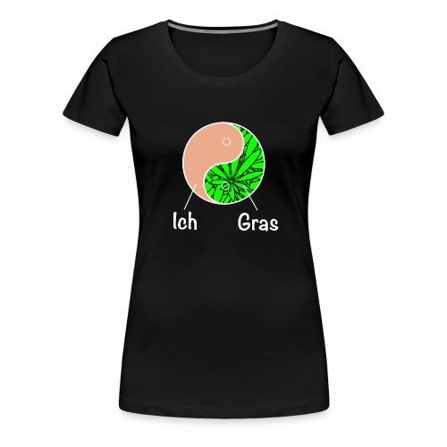 Kiffer Gras Cannabis Motiv Yin&Gras - Frauen Premium T-Shirt