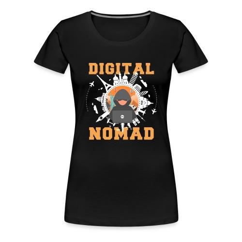 Digital Nomad - Frauen Premium T-Shirt