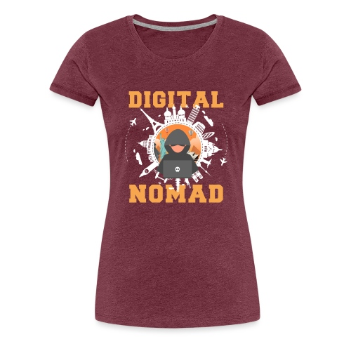 Digital Nomad - Frauen Premium T-Shirt