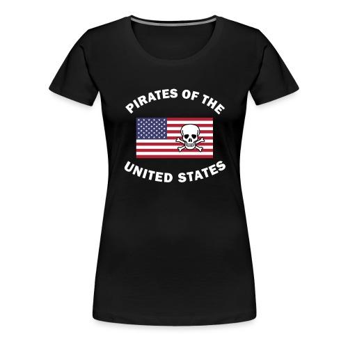 Pirates of the United States - Frauen Premium T-Shirt