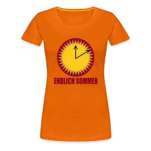 Endlich Sommer - Frauen Premium T-Shirt