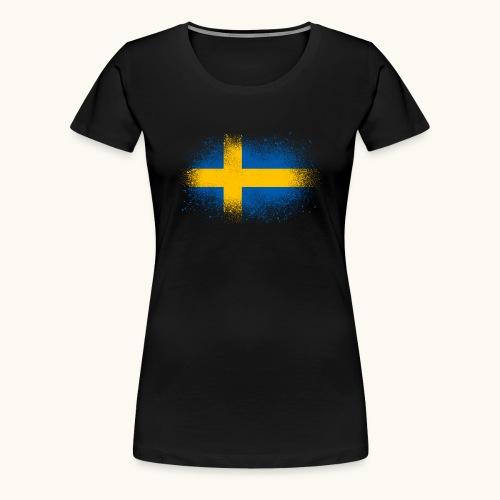 Suède cadeau drôle de drapeau suédois - T-shirt Premium Femme