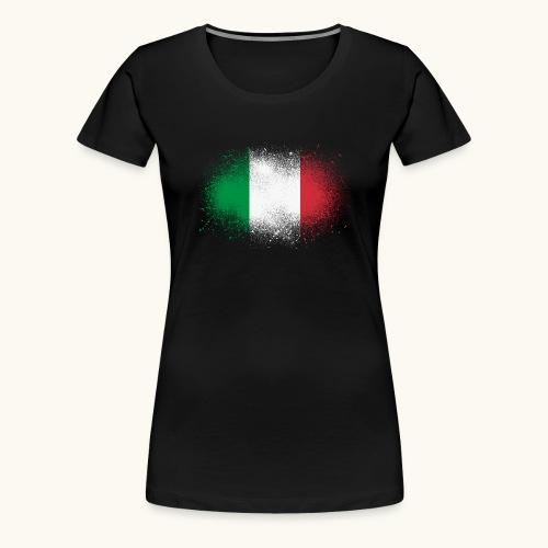 Italie cadeau drôle de drapeau italien grunge - T-shirt Premium Femme