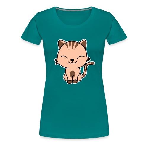 Fröhliche Katze - Frauen Premium T-Shirt