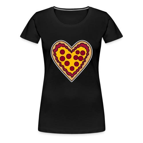 Pizza Herz - Frauen Premium T-Shirt