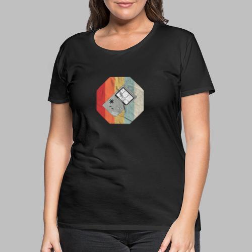 Spielekonsole Herzschlaglinie Gamer Old School - Frauen Premium T-Shirt