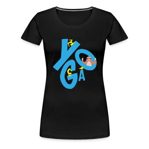 Yoga und Meditation Sonnengruß Namaste Faultier - Frauen Premium T-Shirt