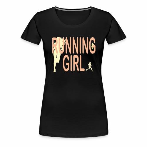Du bist eine Läuferin ein rennendes Mädchen Jogger - Frauen Premium T-Shirt