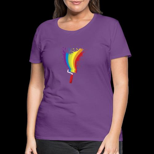 Paint roller Vivid Color - Frauen Premium T-Shirt
