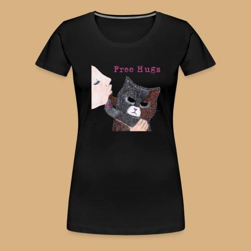 Free Hugs Cat Katze Manga Anime Japan cute comic - Frauen Premium T-Shirt