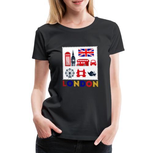 Vintage London Souvenir - Retro Briefmarke London - Frauen Premium T-Shirt