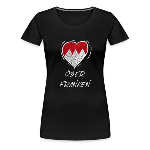 Oberfranken - Frankenwappen Love Wappen Franken - Frauen Premium T-Shirt