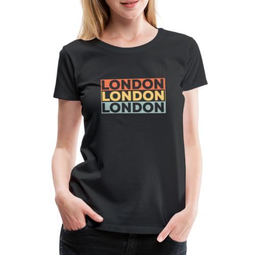 Vintage London Souvenir - Retro Streifen London - Frauen Premium T-Shirt