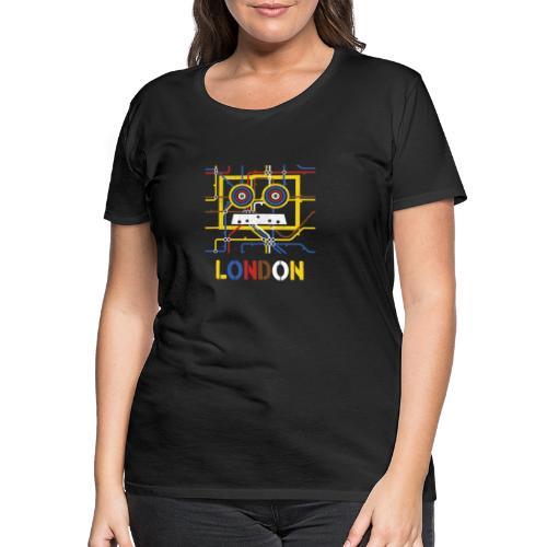London Tube Map Underground - Frauen Premium T-Shirt