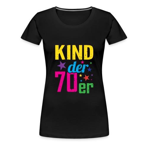 Kind der 70er - Frauen Premium T-Shirt
