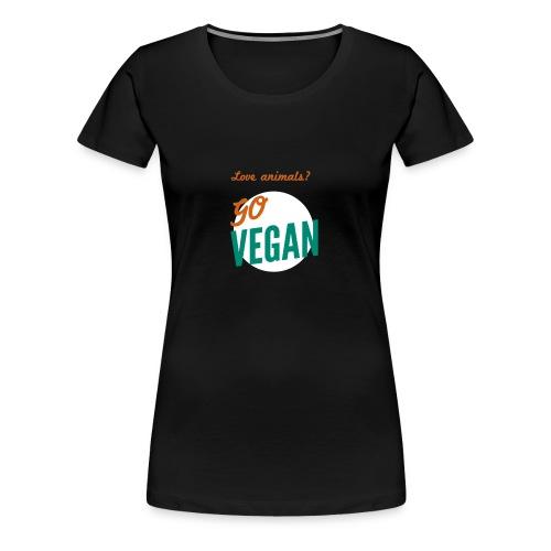 VeganforAnimals - Vrouwen Premium T-shirt