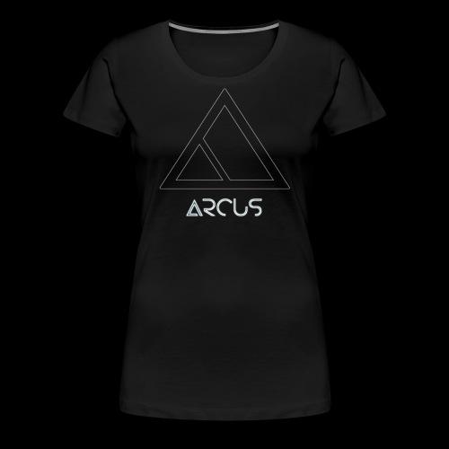 Arcus logo Blanc - T-shirt Premium Femme