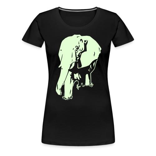elephant dark ink - Women's Premium T-Shirt