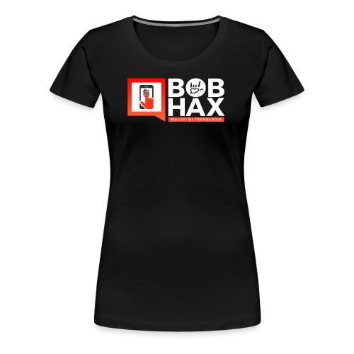 LOGO BobHax white - Maglietta Premium da donna