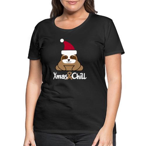 Faultier Weihnachten süß lustig Geschenk - Frauen Premium T-Shirt