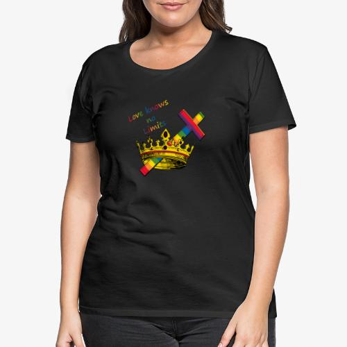 Love knows no limits KRONA - Pride - Premium-T-shirt dam