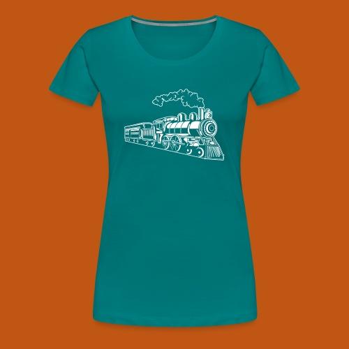 Lokomotive / Locomotive 02_weiß - Frauen Premium T-Shirt