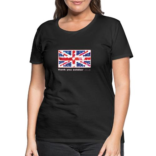 uk heart flag1w - Women's Premium T-Shirt