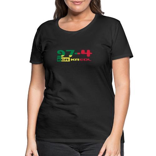 974 ker kreol Rastafari - T-shirt Premium Femme