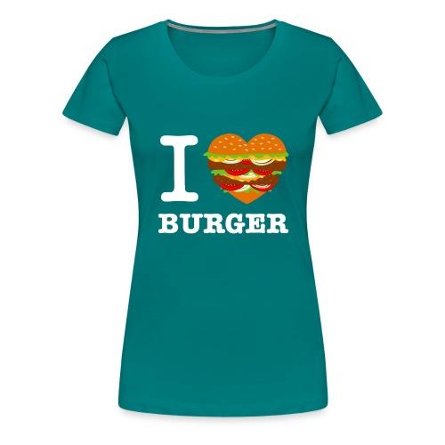 IloveBurger2 png - T-shirt Premium Femme